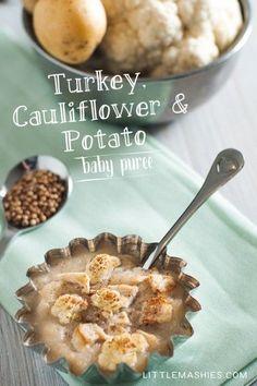 Turkey, cauliflower & potato Christmas baby puree