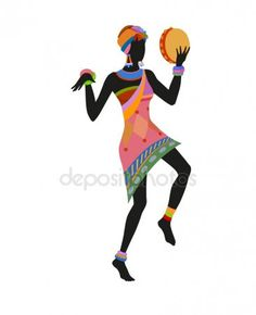 In same serie with 81082638 African woman dancing ritual dance Black Women Art, Black Art, Ritual Dance, Afrique Art, Cd Design, African Paintings, African Masks, African Design, African Women
