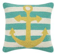 Anchor Stripe Hook Pillow