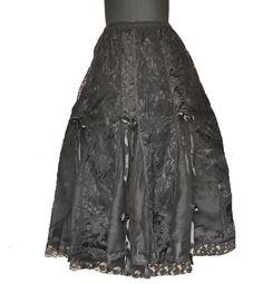 Gothic Victorian Halloween Vamp Dark Black Prom Night Sexy Net Skirt Punk 1547 | eBay