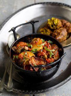 Aubergine, Okra and New Potato Curry