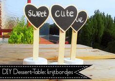 DIY Dessert-Table: Krijtbordjes
