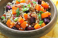 A great gluten-free grain, this sorghum salad is perfect for cold winter days when you crave flavor and color!