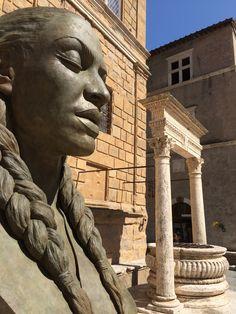 Pienza Piazza Pio II Greek, Statue, Places, Art, Italia, Art Background, Kunst, Performing Arts, Greece