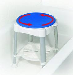 Bath Stool With Padded Rotating Seat  Medi1120