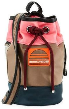 Marc Jacobs Small Sport Sling Colorblock Backpack Bag Marc Jacobs Marc Jacobs Small Sport Sling Colorblock Backpack Bag $495  #Women     #Bags    #Fashion     #Backpacks