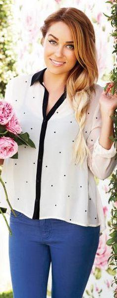 Shirt - LC Lauren Conrad Lc lauren conrad embellished chiffon blouse Lc lauren conrad skinny french terry pants