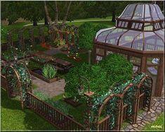 Sims 3 garden, lot, community