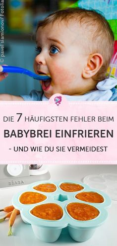 Die 7 häufigsten Fehler beim Babybrei einfrieren und wie Du sie vermeidest/ how to avoid 7 of the most common errors when freezing baby food Early Pregnancy Signs, Pregnancy Goals, Pregnancy Cravings, Baby Massage, Brei Baby, Baby Showers Juegos, Baby Feeding Chart, Lactation Recipes, Brunch