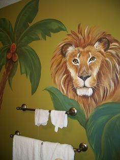 Kids room  Mural, Safari Mural, custom murals, Animal art,  Birdwall art,  Lion…
