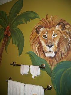 Kids room  Mural, Safari Mural, custom murals, Animal art,  Birdwall art,  Lion painting, Giraffe