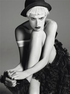 By steven meisel Model, Women, Poses, Agness, Agyness Deyn, Portrait, Fashion Photo, Photography, Photo