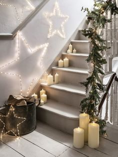How to Hygge - gorgeous snuggly ways to cosy up your whole life with our super simple ideas for adding a little hygge to your home Christmas Lights Outside, Christmas House Lights, Outdoor Christmas, Christmas Home, Christmas Windows, Christmas Ideas, Hygge Christmas, Scandinavian Christmas, Christmas Staircase Decor