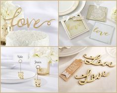 Gold Love Party Favors for wedding, bridal shower, Valentine's Day and more love themed party from HotRef.com #love #gold #partyfavors
