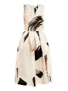 Flower Print Dresses for Women | 255-Christopher-Kane-Geo-floral-paint-print-dress-for-women-2.jpg
