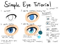Simple Eye Tutorial by catnappe143 on deviantART via PinCG.com