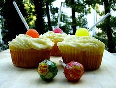 Flavours of Spain, part Chupa Chups Cupcakes, Desserts, Food, Cooking, Deserts, Cupcake, Cupcake Cakes, Dessert, Meals