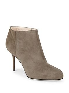 Sergio Rossi Zippered Leather Stiletto Booties