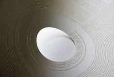 Laser etched paper by Peter Crnokraks