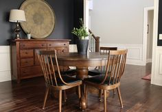 dining room, antique chairs, brass tray, vintage chairs
