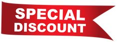 Red Special Sale Discount Sticker PNG Clipart Image