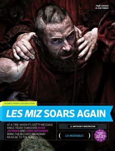 Jean Valjean (Hugh Jackman), start of Les Mis article in Entertainment Weekly, Les Miserables movie