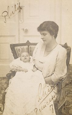Alice, daughter of Victoria with her son Philip, the later Duke of Edinburgh