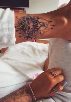 sun and moon tattoo #ink #youqueen #girly #tattoos #sun #moon @youqueen