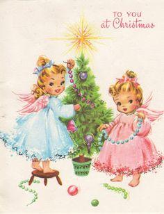 CHRISTMAS ANGELS CARDS | Santa Claus and Christmas