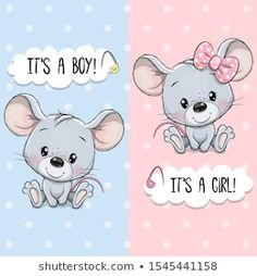Illustration about Baby Shower greeting card with Cute Mouses boy and girl. Illustration of happiness, invitation, graphic - 162472910 Baby Shower Greetings, Baby Shower Greeting Cards, Greeting Cards Handmade, Maus Illustration, Baby Animal Drawings, Cartoon Whale, Bon Point, Disney Cartoon Characters, Halloween Cartoons