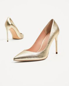 ZARA - COLLECTION AW/17 - GOLD COLORED COURT SHOES