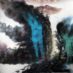 Mountain And River Affection Landscape Abstract Art Chinese Ink Brush Painting Cmcm Chinese
