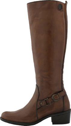 Botas de montar de piel de Bussola con tacón medio. PVP 95€