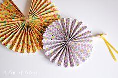 DIY. Paper fan