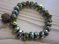 """Glasperlenarmbänder - ♥Armband """" olivgrün""""♥ - ein Designerstück von Atelier-D bei DaWanda"""