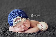 play ball, crochet baseball hat pattern on ravelry