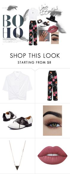 """""""Boho Takes To The Streets"""" by sjskbs ❤ liked on Polyvore featuring T By Alexander Wang, WearAll, Lana, Lime Crime, Brixton, boho and summer2017"""