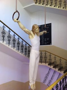 """""""Jesus the Gymnast."""" seems sacrilegious, but I don't intend it to be."""