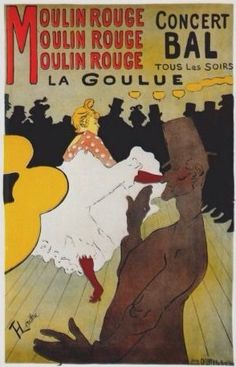 Moulin Rouge, la goulue (poster) Toulouse painted advertisement poster for the Moulin Rouge. I was blessed to have been able to go to the Moulin Rouge and see some of his masterpieces! This is my ALL time favorite poster! Henri De Toulouse Lautrec, Vintage Prints, Vintage Posters, Vintage Art, Antique Prints, Vintage Jewelry, A4 Poster, Poster Prints, Art Prints
