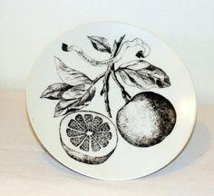 black and white Botanical | black and white botanical plate