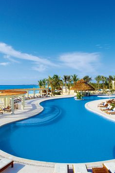 Cool off in one of the pools, and enjoy a delicious cocktail at the swim-up bar. #Jetsetter Dreams Resort All-Inclusive (Tulum, Mexico)
