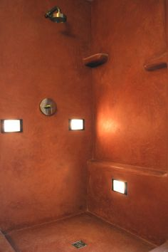 Tadelakt is a completely waterproof, polished plaster made from lime and finished with olive oil soap.