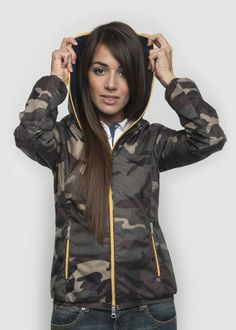 #NorthSails #collection #Spring #Summer #2014 #Woman #Jacket #Paula #camouflage #blue #white  #Polyamid #hooded #windproof #sprayproof #nylon #zip #jersey #collezione #cappuccio #collezione #donna #Primavera #Estate