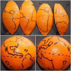 The world on an orange. lesson plan.