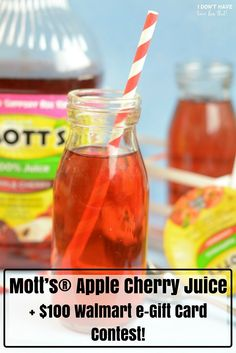 Mott's® Apple Cherry Juice   $100 Walmart e-Gift Card Contest!