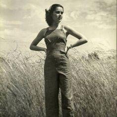 Loving this 1940s tomboy ensemble.