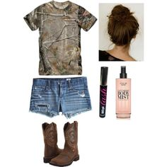 A fashion look from March 2013 featuring Realtree tops, AG Adriano Goldschmied shorts and Justin boots. Browse and shop related looks.