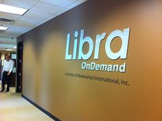 Libra OnDemand wanted a lobby sign that said WOW to their customers and these flat cut letters does just that! Make an impression with your future clients! http://www.hotelmanagement-network.com/contractors/hospitality-software/libra/