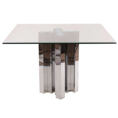 Sculptural Polished Aluminium Dining Table | From a unique collection of antique and modern dining room tables at https://www.1stdibs.com/furniture/tables/dining-room-tables/