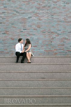 Great engagement picture on the steps outside the Walker Art Museum in Minneapolis, MN